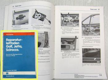 Reparaturleitfaden VW Scirocco II Typ 53 Karosserie Montagearbeiten 1981-88