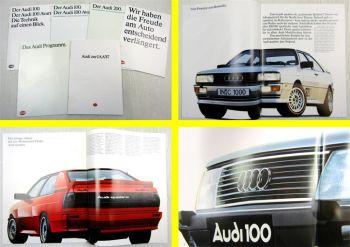 6 Prospekte Audi 80 90 100 200 Avant Coupe Quattro Technik + Audi IAA 87