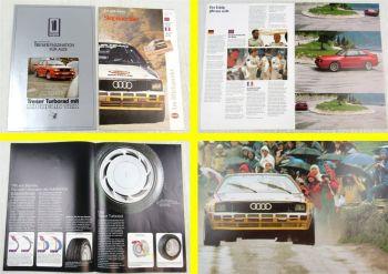 2 Prospekte Audi quattro + Treser Tuning Audi 80 90 100 200 Ausgaben wohl 80er