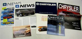 6 Prospekte General Motors Chevrolet Corvette Chrysler Voyager Pontiac Firebird