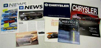 6 Prospekte General Motors Chevrolet Corvette Chrysler Voyager Pontiac Firebird