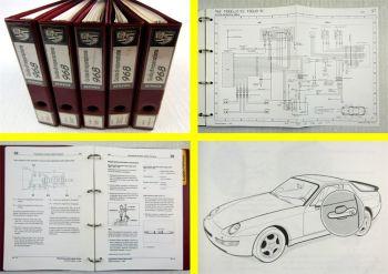 Porsche 968 guida manuale di riparazione + Schema elettrico 1990 - 1994