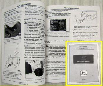 John Deere Mähwerk 38 Zoll Mover Deck 38-Inch Betriebsanleitung Operators Manual
