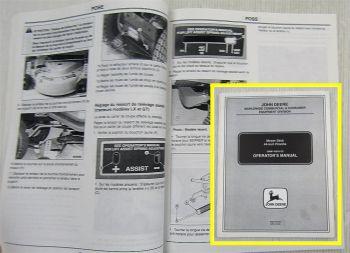John Deere Mähwerk 44-Inch Zoll Piranha Mover Deck Bedienung Operator Manual