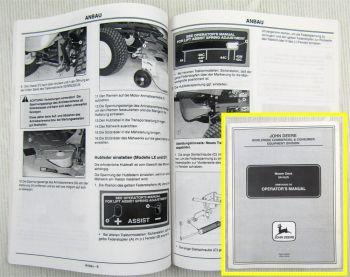 John Deere Mähwerk 54 Zoll Mover Deck 54-Inch Betriebsanleitung Manual 2000