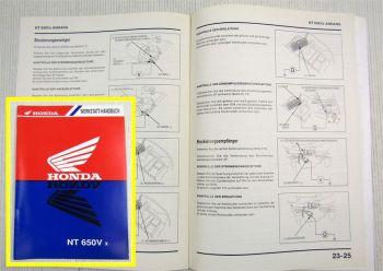 Werkstatthandbuch Honda NT650 Vx Ergänzung Nachtrag zur Reparaturanleitung 01