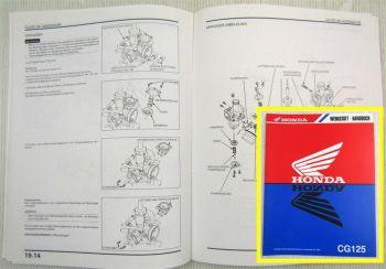 Honda CG125 W Ergänzung zum Werkstatthandbuch Reparaturanleitung 1998