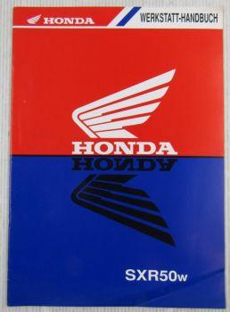 Honda SXR50w Ergänzung Werkstatthandbuch Reparaturanleitung SFX50 SFX50S W