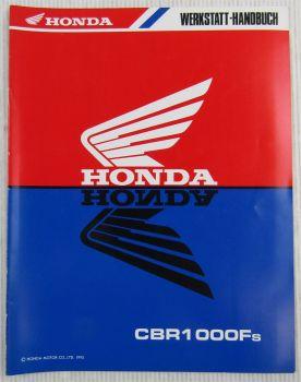 Honda CBR1000Ft Ergänzung Modell SC24 Werkstatthandbuch Reparaturanleitung 1995