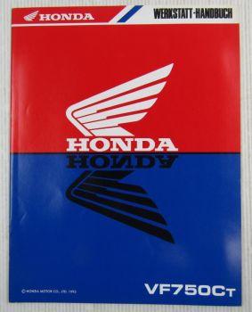 Honda VF750Ct Ergänzung Nachtrag Werkstatthandbuch Reparaturanleitungen 1995