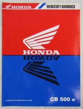 Honda CB500-W CB500S-W Bremssystem Werkstatthandbuch Nachtrag Reparatur 1997