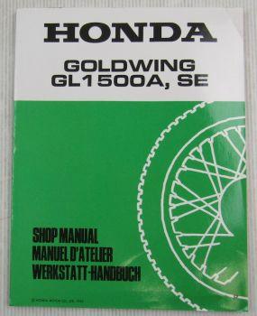 Honda GL1500 A/SE p Goldwing Werkstatthandbuch 1993 Ergänzung Reparaturanleitung