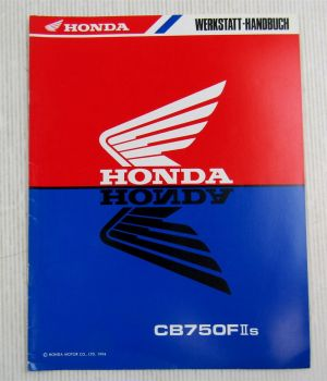 Honda CB750FIIs Modell RC42 Nachtrag Werkstatthandbuch Reparaturanleitung 1994