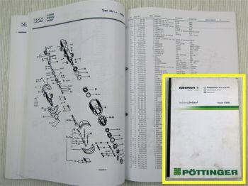 Pöttinger Europrofi 1 Lade-/ Silierwagen Ersatzteilkatalog Parts List 03/2000