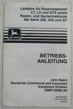 John Deere Ladebox LT LX STX Gartentraktoren Serie 325 345 GT Betriebsanleitung