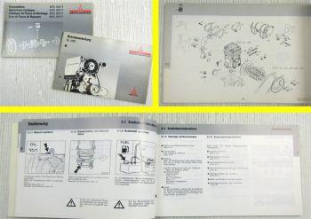 Deutz Motor BFL 1011 + FL 1011 + T Ersatzteilliste 1989 Bedienungsanleitung 1991