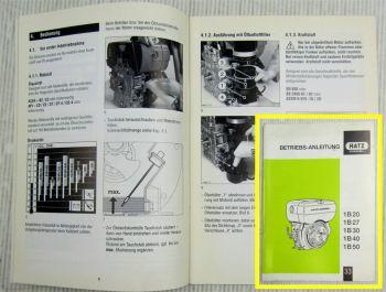 Hatz 1B 20 27 30 40 50 Dieselmotor Betriebsanleitung Bedienungsanleitung 2005