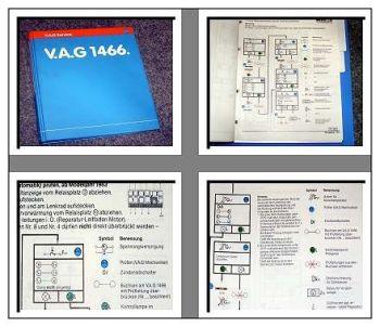 Werkstatthandbuch VW Scirocco Passat 32B Fehlersuche Elektrik mit V.A.G 1466