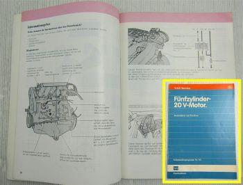 VW Audi SSP 93 Selbststudienprogramm Fünfzylinder 20V Motor 5-Zyl. 2,0 Liter