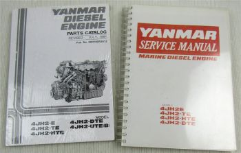 Yanmar 4JH2 E TE HTE DTE Marine Diesel Engine Service Manual + Parts List