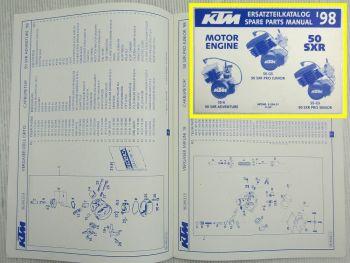 Ersatzteilkatalog KTM 50SXR S5-E S5-GS 1998 Ersatzteilliste Motor Parts List