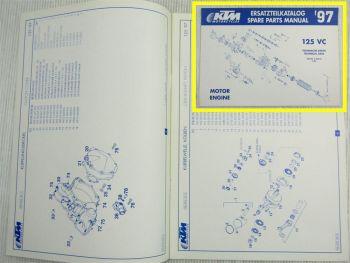 KTM 125VC SX EXC EGS Motor Ersatzteilkatalog Spare Parts List 06/1996