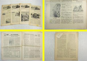 4x Zeitung Fahrtwind August September Dezember 1957 Amtsbezirk Aschersleben