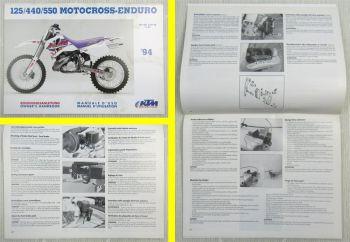 KTM 125 440 550 Motocross-Enduro Bedienung Betriebsanleitung Handbook MJ 94