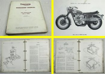 Triumph Boneville 120 T120 T120R Trophy TR6R TR6C 650cc Workshop Manual 1969