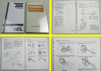 Yanmar 3JH2-E 3JH2-BE Diesel Engines Service Manual + Spare Parts List about 90s
