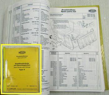 Meiller Kipper Stahlbordwände mit Beschlagteilen Typ 9 Ersatzteilliste 10/90