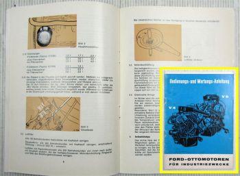 Ford V4 V6 Ottomotoren f Industriezwecke Bedienungs- und Wartungsanleitung 1966