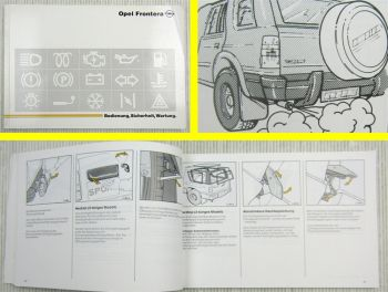 Opel Frontera A 3- und 5-Türer Betriebsanleitung Bedienungsanleitung 11/1991