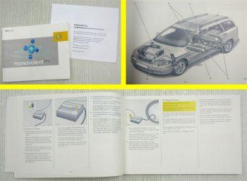Opel Astra monovalent plus Zusatz Erdgas Bedienung Betriebsanleitung 1/2003
