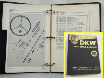 DKW Schnell-Laster Typ 30 Ersatzteilkatalog Ersatzteilliste 04/1955