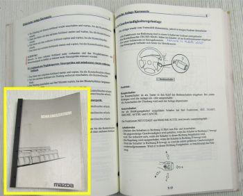 Mazda 626GF 323BA Schulungshandbuch Service Training Einführungsschrift 07/1997