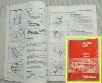 Reparaturhandbuch Mazda 929 2.0i Ergänzung zum Werkstatthandbuch Reparatur 1984