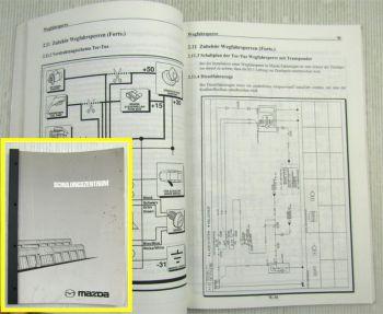 Mazda Wegfahrsperren Türfernbedienung Schulungshandbuch Werkstatthandbuch 2000