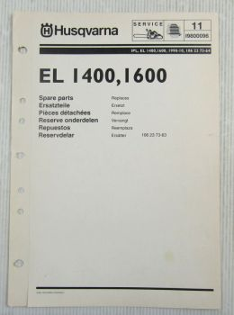 Husqvarna EL 1400 1600 Kettensäge Motorsäge Ersatzteilbild-Katalog Parts List 98