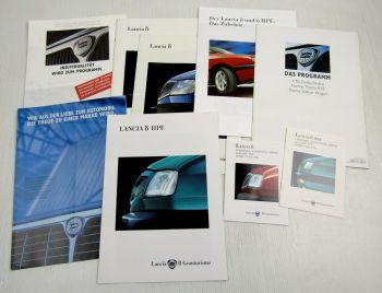 7 Prospekte Lancia Y10 Delta Dedra Thema 90er Jahre + 2 Preislisten 1995/96