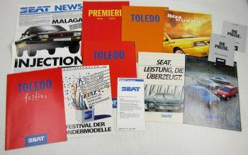 8 Prospekte Seat Toledo Ibiza Malaga Terra Cordoba+ 3 Preislisten + 1 Seat News