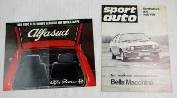 Prospekt  Poster Alfa Romeo Alfasud + auto motor und sport Sonderdruck Heft 3/80