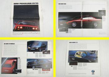 Prospekt BMW Programm 89/90 3er und 7er Reihe M3 M5 Z1 850i Technische Daten