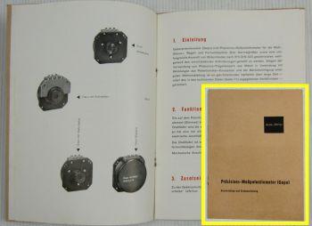 Präzisions-Meßpotentiometer (Gepo) Beschreibung und Einbauanleitung Zeiss Jena