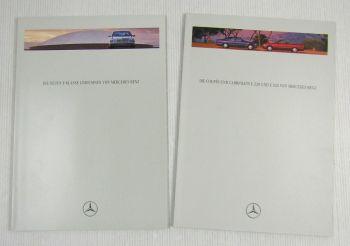 2 Prospekte Mercedes Benz E-Klasse Limousinen 1995 + Coupes und Cabriolets 1993