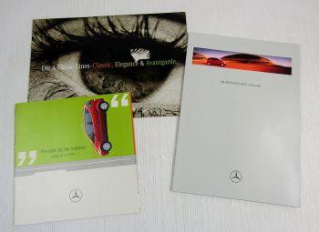 3 Prospekte Mercedes Benz A-Klasse A140 A160 + Turbodiesel + Preisliste ab 5/97