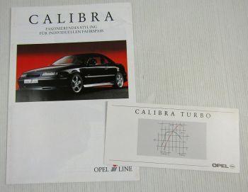 2 Prospekte Opel Calibra Irmscher + Turbo Sportcoupe von 1991 und 1997
