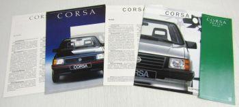 2 Prospekte Opel Corsa A 1986/87 + Preisliste 2/87 + Technische Daten Ausstattun
