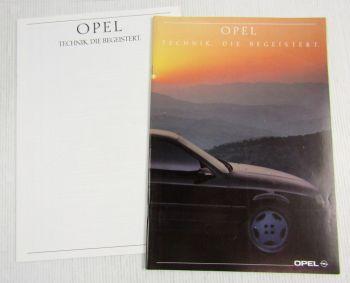 Prospekt Opel Technik, die begeistert Corsa Vectra Kadett Senator Omega 9/89