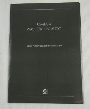 3 Prospekte Opel Omega A1 Sonderausstattungen Farben Polster + Preisliste 10/86